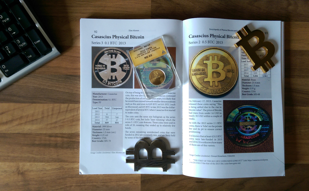 Encyclopedia of Physical Bitcoins and Crypto-Currencies